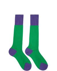 Calcetines verdes de Prada