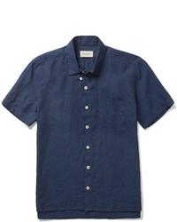 Camisa azul marino de Oliver Spencer