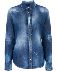 Camisa azul de Dsquared2