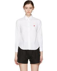 Camisa blanca de Comme des Garcons