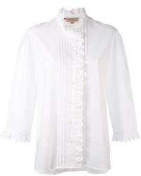 Camisa Bordada Blanca de Burberry