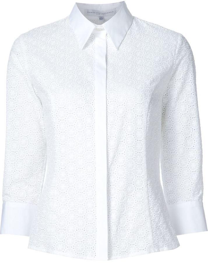 camisa blanca carolina herrera precio mujer