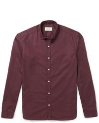 Camisa burdeos de Oliver Spencer
