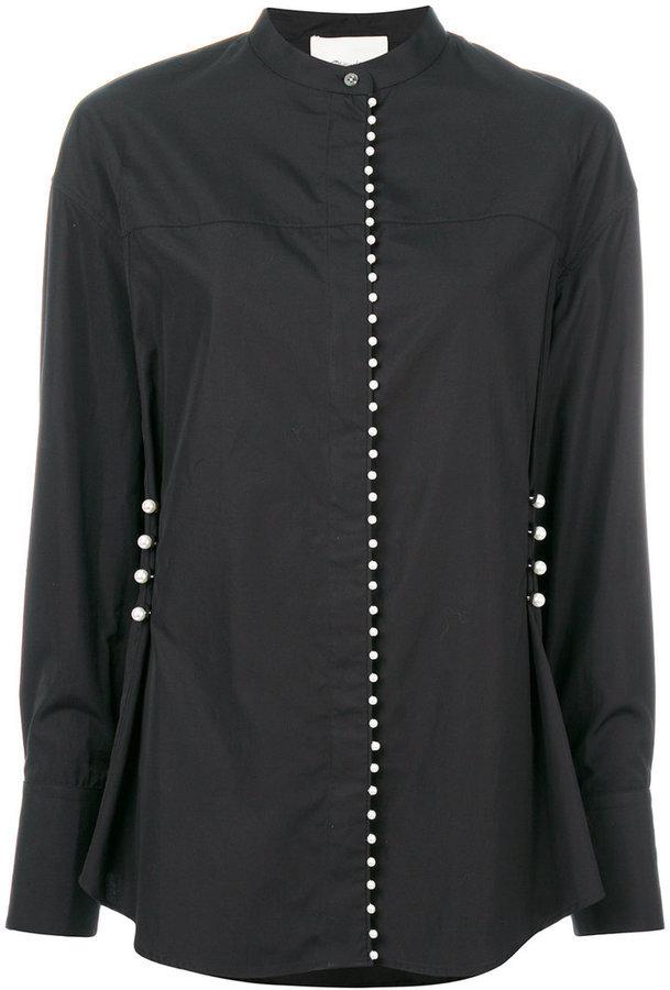 Camisa con adornos negra de 3.1 Phillip Lim