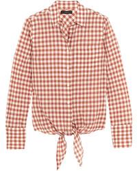 Camisa de cuadro vichy rosada de J.Crew