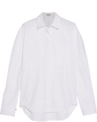 Camisa de espiguilla blanca de Balenciaga