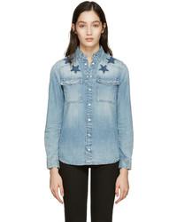Camisa de estrellas celeste de Givenchy
