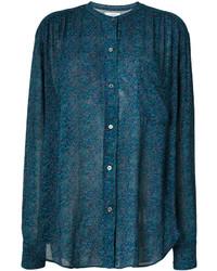 Camisa de gasa estampada en verde azulado de Etoile Isabel Marant