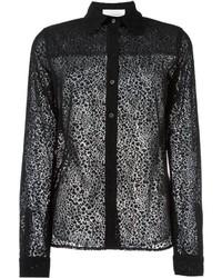 Camisa de leopardo negra de See by Chloe