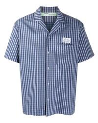 Camisa de manga corta a cuadros azul de Off-White