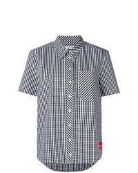 Camisa de manga corta a cuadros blanca de Calvin Klein Jeans