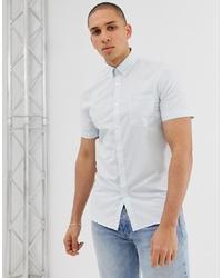 Camisa de manga corta a cuadros blanca de Lacoste