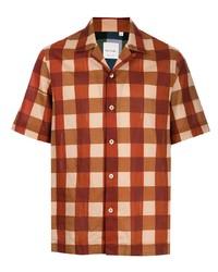 Camisa de manga corta a cuadros naranja de Paul Smith