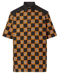 Camisa de manga corta a cuadros negra de Burberry