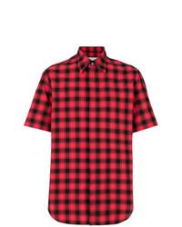 Camisa de manga corta a cuadros roja de Maison Margiela