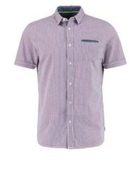 Camisa de Manga Corta a Cuadros Violeta Claro de Kaporal