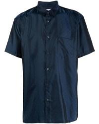 Camisa de manga corta a lunares azul marino de Comme Des Garcons SHIRT