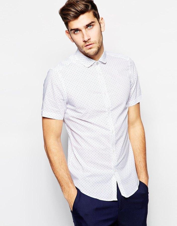 ... Camisa de manga corta a lunares blanca de Ben Sherman ... 2ad3e4684a333