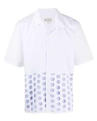 Camisa de manga corta a lunares blanca de Maison Margiela