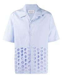 Camisa de manga corta a lunares celeste de Maison Margiela