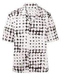 Camisa de manga corta a lunares en blanco y negro de Maison Margiela