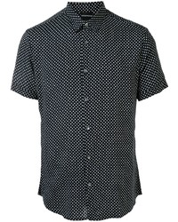 Camisa de manga corta a lunares en negro y blanco de Emporio Armani