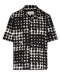 Camisa de manga corta a lunares en negro y blanco de Maison Margiela