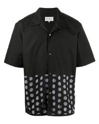 Camisa de manga corta a lunares negra de Maison Margiela