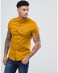 Camisa de manga corta amarilla de ASOS DESIGN