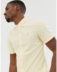 Camisa de manga corta amarilla de Farah