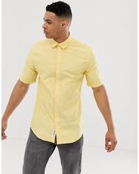 Camisa de manga corta amarilla de ONLY & SONS