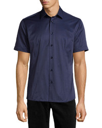 Camisa de manga corta azul marino