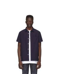 Camisa de manga corta azul marino de A.P.C.