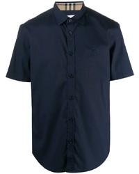 Camisa de manga corta azul marino de Burberry