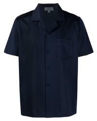 Camisa de manga corta azul marino de Canali