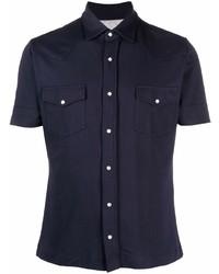 Camisa de manga corta azul marino de Eleventy