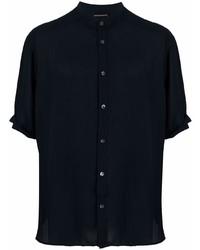 Camisa de manga corta azul marino de Emporio Armani
