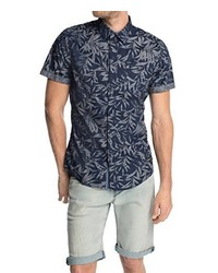 Camisa de manga corta azul marino de Esprit