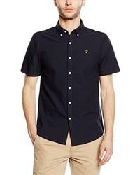 Camisa de manga corta azul marino de Farah