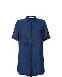 Camisa de manga corta azul marino de Gentry Portofino