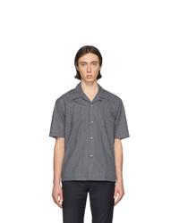 Camisa de manga corta azul marino de Maison Margiela