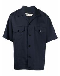 Camisa de manga corta azul marino de Marni