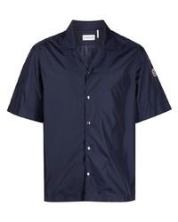 Camisa de manga corta azul marino de Moncler
