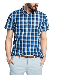 Camisa de manga corta azul de edc by Esprit