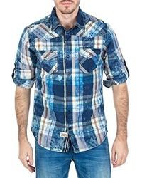 Camisa de manga corta azul de M.O.D