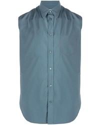 Camisa de manga corta azul de Maison Margiela