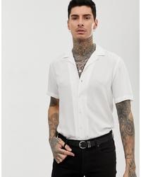 Camisa de manga corta blanca de ASOS DESIGN