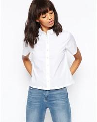 Camisa de Manga Corta Blanca de Asos