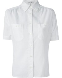 Camisa de Manga Corta Blanca de Celine