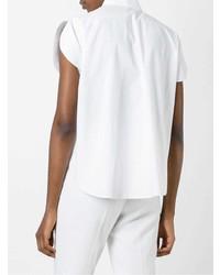 Camisa de Manga Corta Blanca de DELPOZO